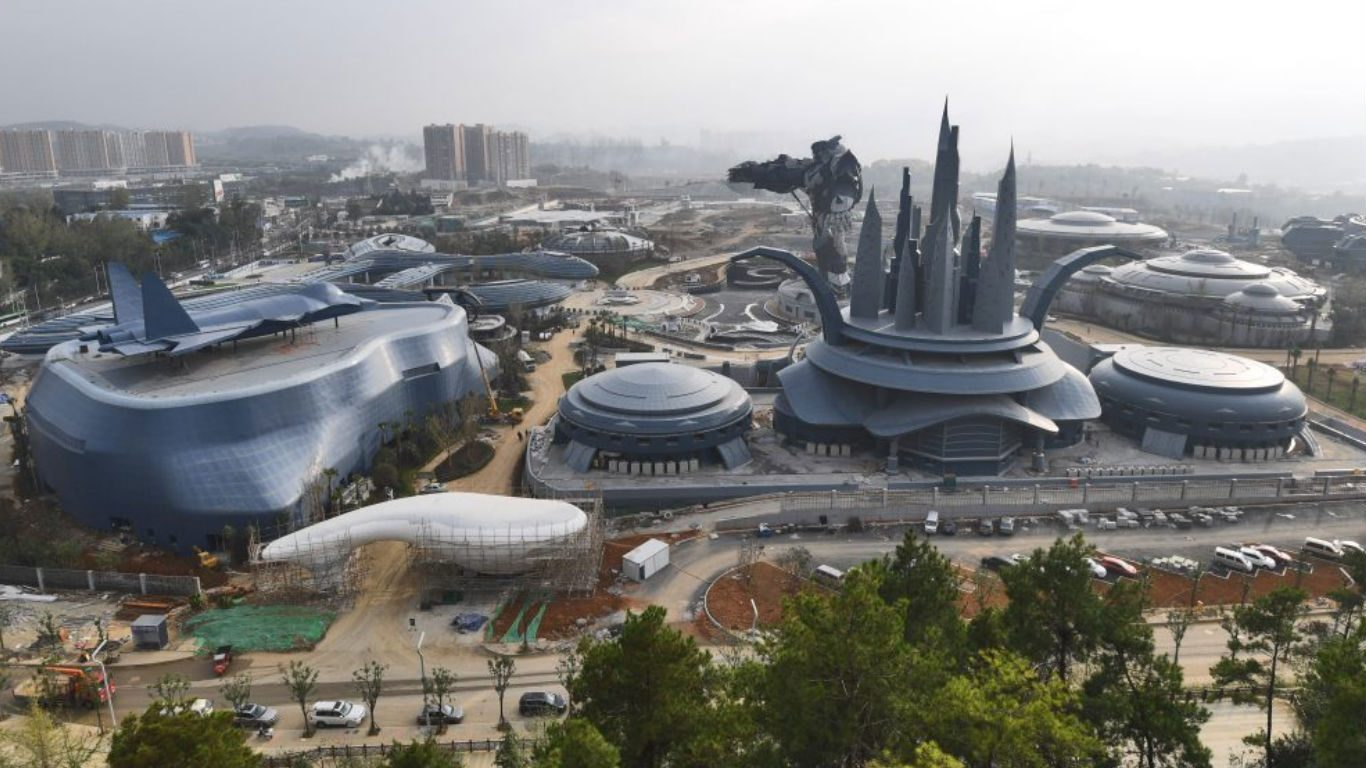 China is building the world's largest science fiction theme park