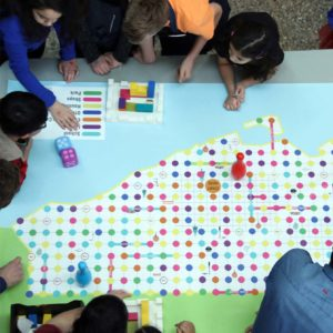 A board game that teaches children to build cities