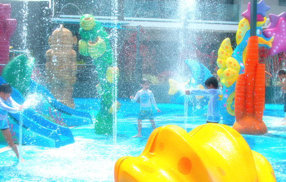 First Splash Pad on Mauritius by Amusement Logic.