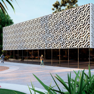 Rotating modular patterns on façades