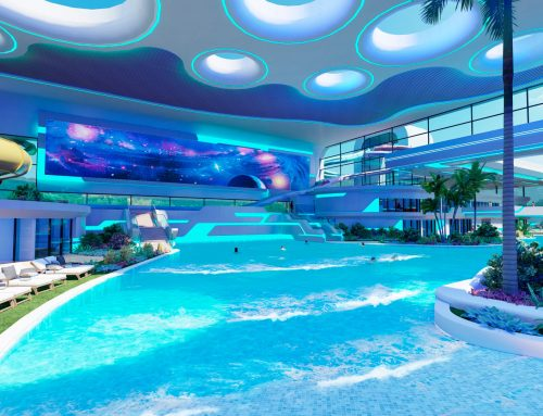 Water park and thermal complex for a shopping mall, Russia