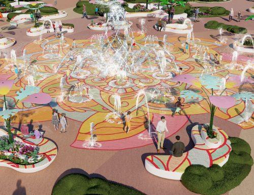 Fountain Splash Pad, scenery and fun