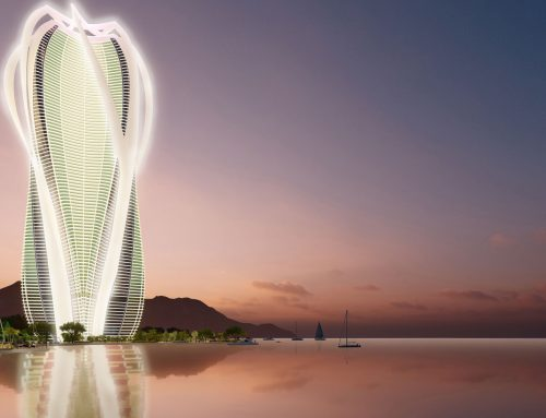 A sustainable mixed-use skyscraper by the sea